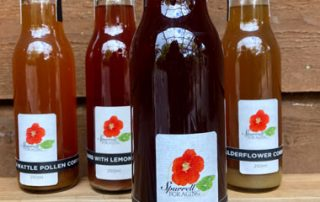Our rhubarb and mountain marigold cordial