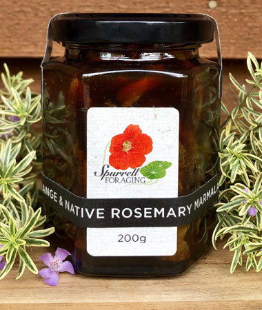 Our orange and native rosemary marmalade