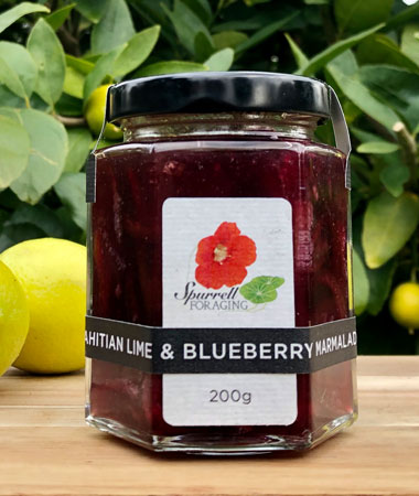 Our Tahitian lime and blueberry marmalade